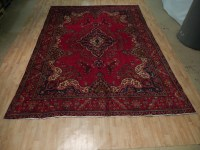 Red Oriental 9 x 13 Area Rug Hand Knotted Kerman Area Rug ...