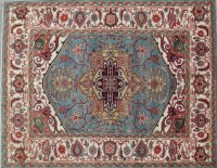 Sea Blue Exclusive Design Serapi Hand Knotted 8x10 Rug ...