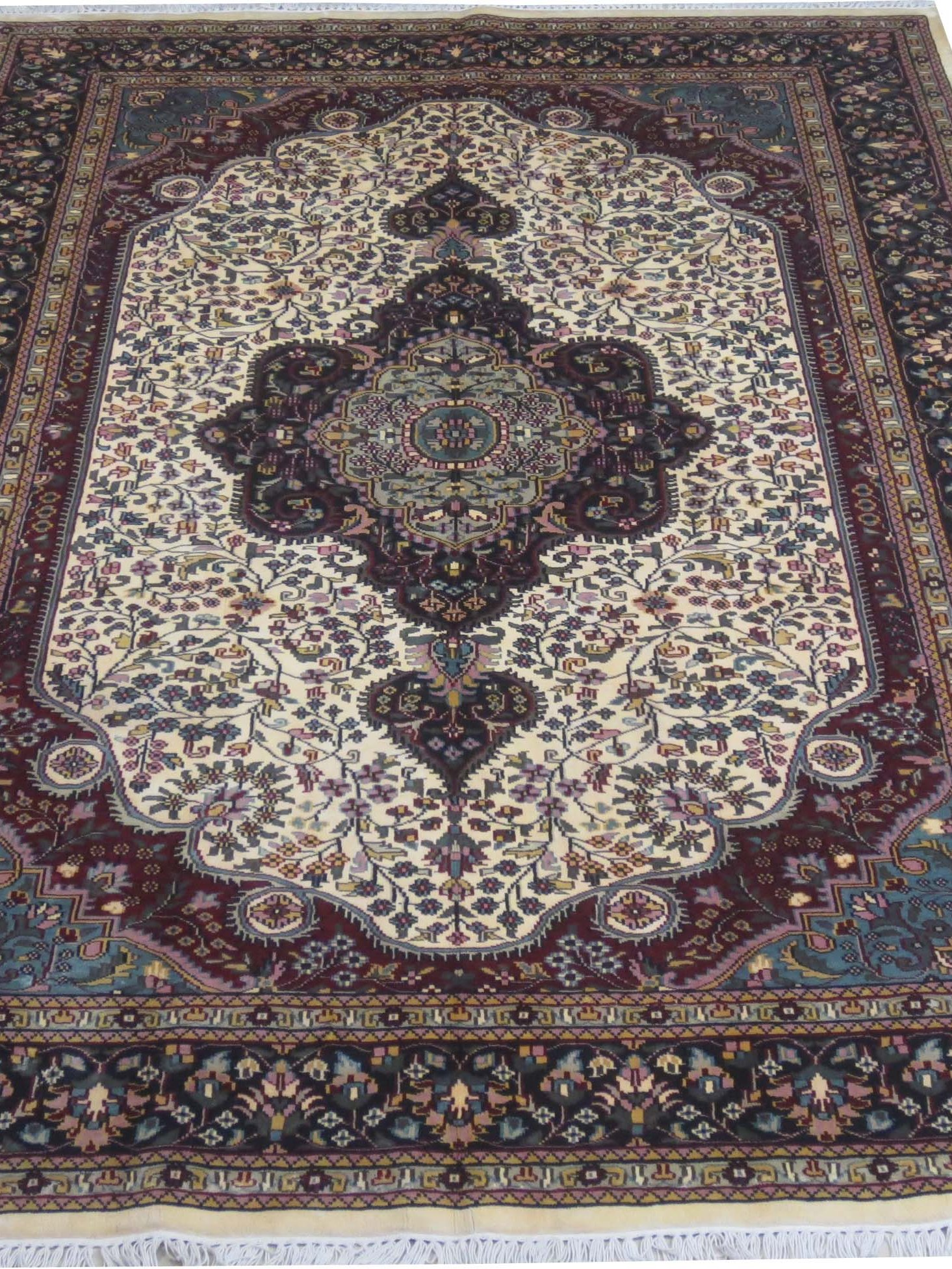 Ivory 6x9 Area Rugs Sale Silk Kashmir Cheap Rugs For Sale Handmade Oriental Rug  eBay