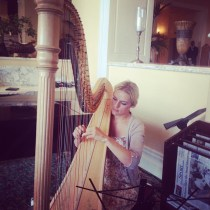 high tea harpist