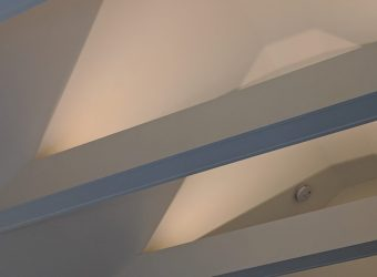 Beams in Cathedral Ceiling - Master Bedroom