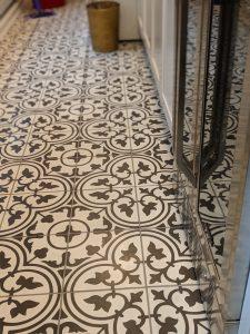 Detail, Laundry Room Floor - Hunt Valley Tile