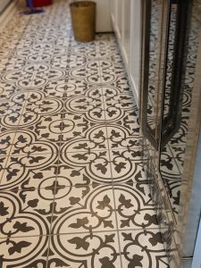 Detail, Laundry Room Floor - Hunt Valley Tile