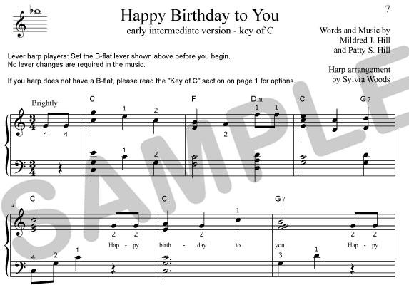 Music Harmonica Birthday Happy Sheet Instruments