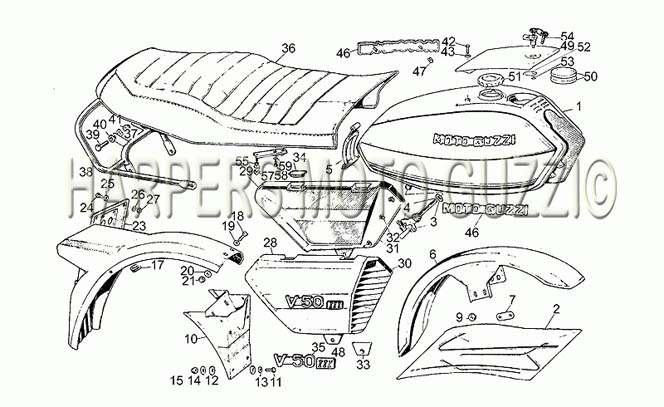 Parts Lookup :: 1980-89 Moto Guzzi's :: V 50 III 500 1980