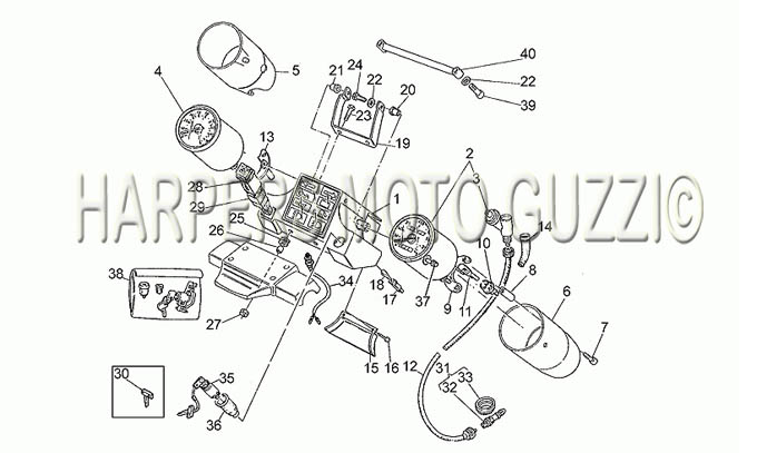 Parts Lookup :: 1990-1999 Moto Guzzi's :: California 1100
