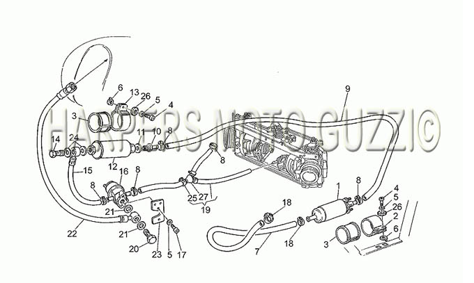Parts Lookup :: 1990-1999 Moto Guzzi's :: California EV