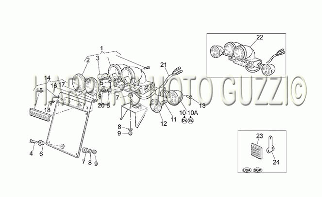 Parts Lookup :: 1990-1999 Moto Guzzi's :: California