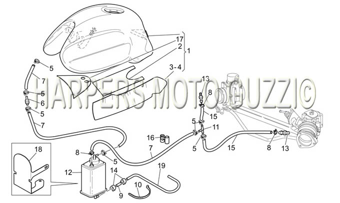 Parts Lookup :: 2000-2009 Moto Guzzi's :: V 11 Cat. 1100
