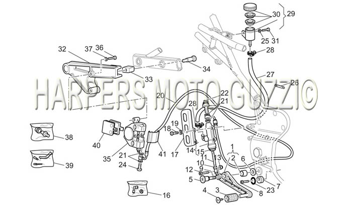 Parts Lookup :: 2000-2009 Moto Guzzi's :: V 11 Le Mans