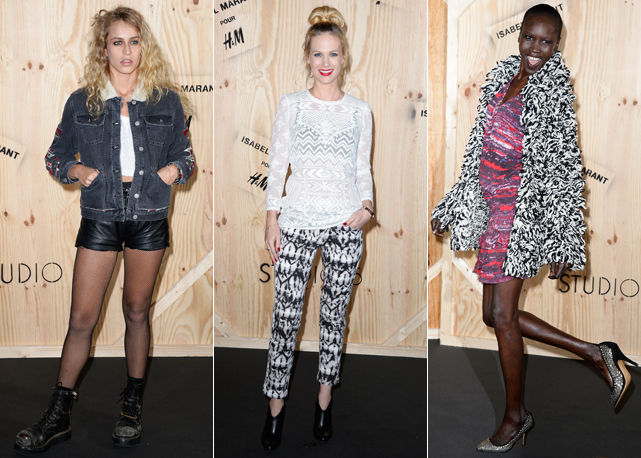 Alice Dellal, January Jones e Alek Wek - Fotos: Getty Images