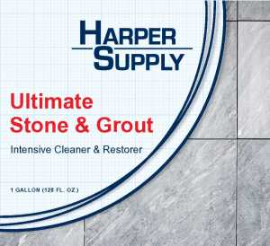 Utimate Stone & Grout Label