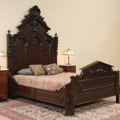 German Kitchen Cabinets Frigidaire Gallery Package Sold - Victorian 1860's Antique Carved Walnut Queen Size ...