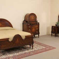 Vintage Bedroom Chair Ebay Cover Rentals Oahu Sold Marquetry 1920 39s Full Size Antique Set 3