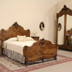 Mission Kitchen Cabinets Renovation Pictures Sold - French Queen Size 4 Pc. Antique 1900 Carved Walnut ...