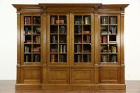 SOLD - French Oak 1920's Antique 10' Library Bookcase ...