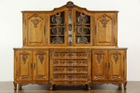 SOLD - Country French Hand Carved Oak Vintage Provincial ...