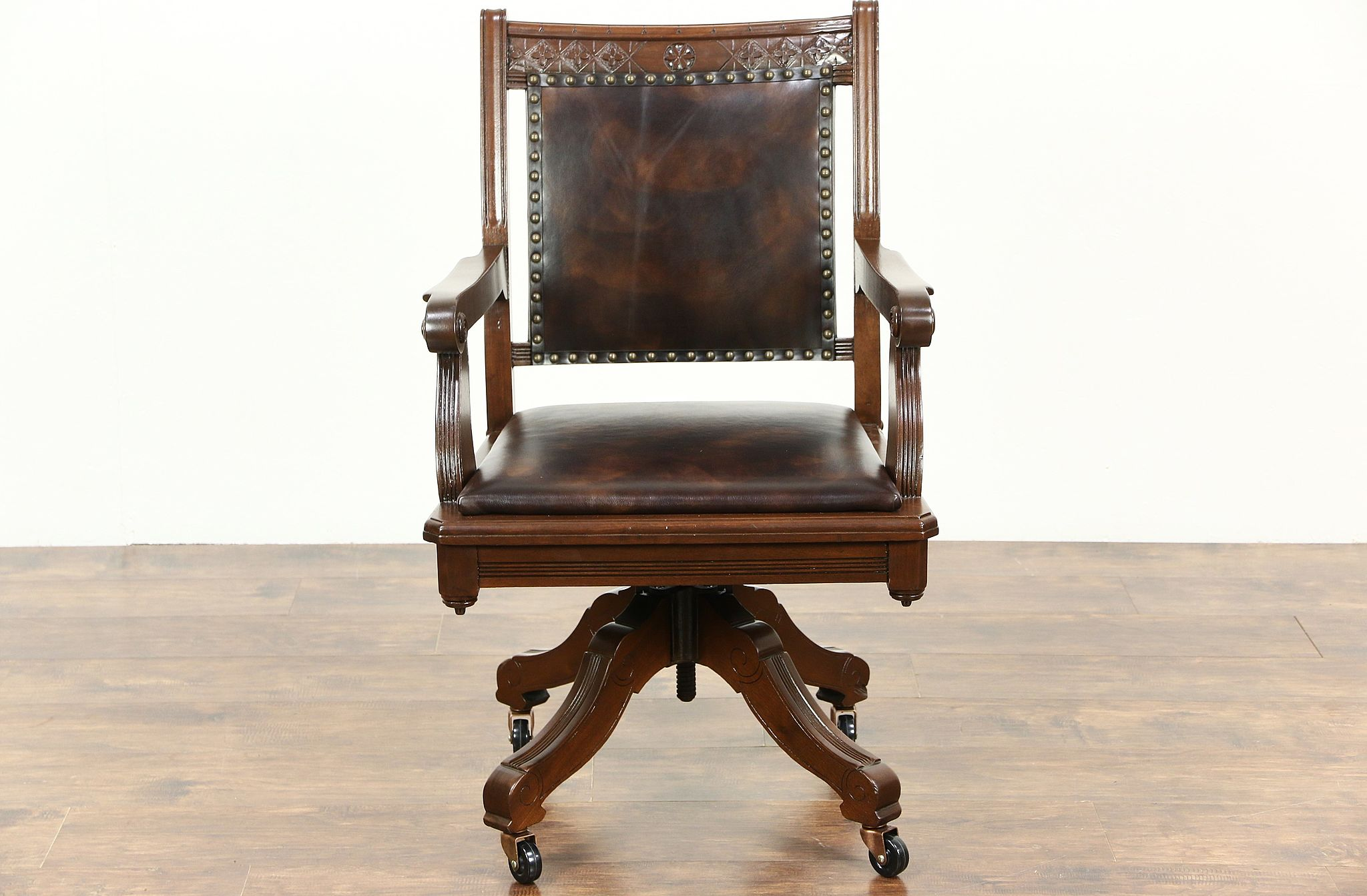 eastlake victorian parlor chairs wheelchair bag sold 1890 antique walnut swivel desk