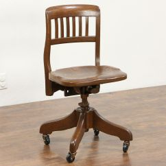 Sikes Chair Company Office Racing Sold Oak 1925 Antique Swivel Adjustable Desk