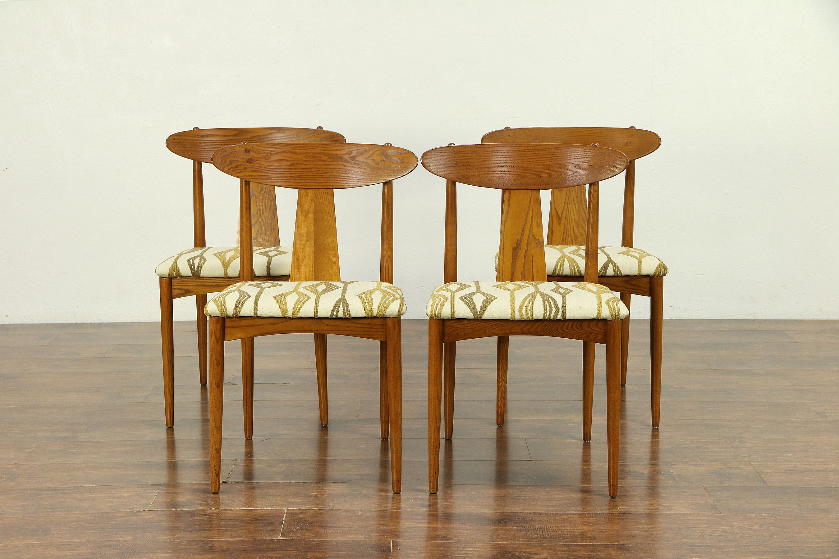 danish modern dining chair posture seat for couch set of 4 midcentury 1960 vintage chairs new upholstery 30319 harp gallery
