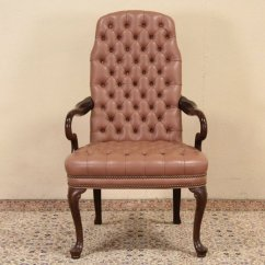 Ethan Allen Leather Chair Where To Nail Rail Sold Georgian Style Tufted Desk Harp Gallery
