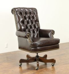 leather tufted swivel adjustable new desk chair cabot wrenn 30995 photo [ 2048 x 1365 Pixel ]