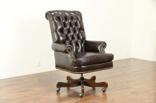 small resolution of leather tufted swivel adjustable new desk chair cabot wrenn 30995 photo
