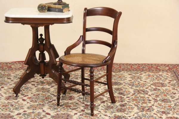 Victorian Antique Cane Seat Dining Chairs
