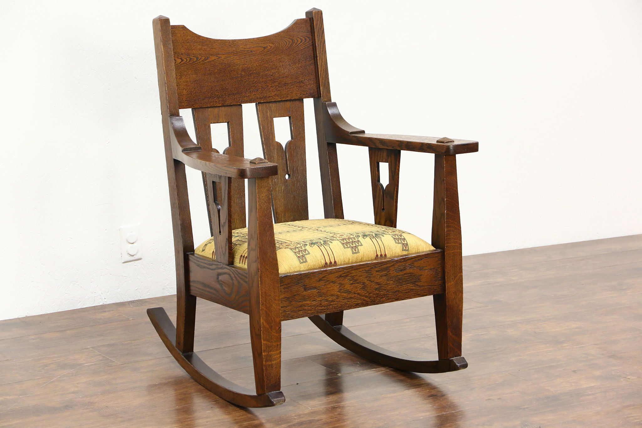 craftsman rocking chair styles girl table and chairs sold arts crafts mission oak antique rocker