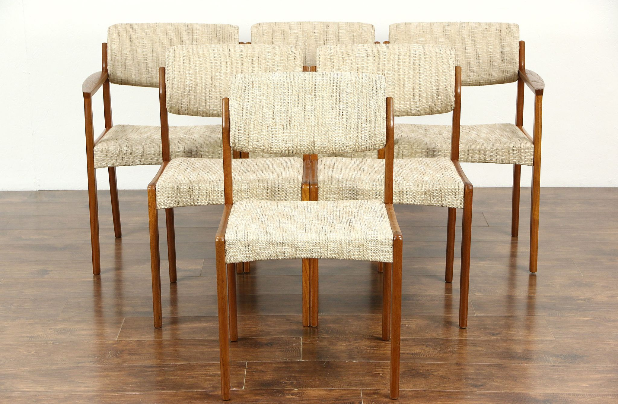 danish modern dining chair large covers sold set of 6 midcentury teak chairs signed bramin denmark harp gallery