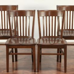 Antique Oak Dining Chairs How To Make Chair Cushions With Foam Sold Set Of 4 Library Office Or Marble Shattuck 29370 Harp Gallery