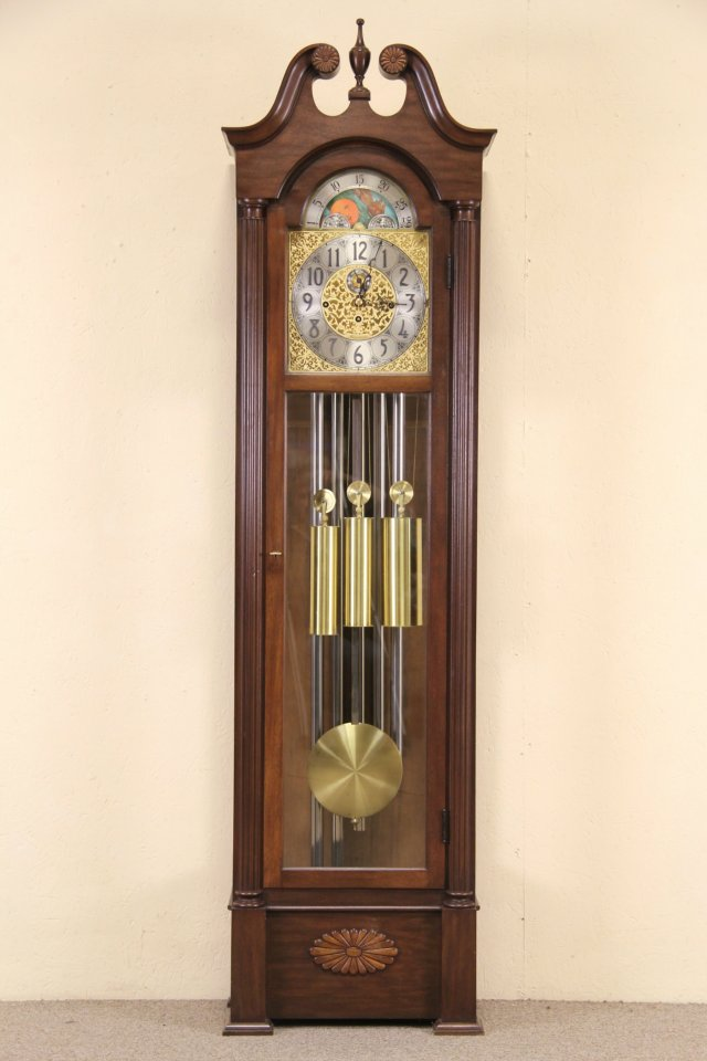 SOLD  Herschede Vintage Grandfather or Tall Case Clock