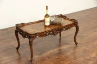 SOLD - French Style Carved 1940's Vintage Coffee Table ...