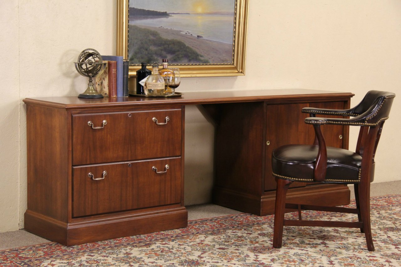 SOLD  Jofco Vintage Executive Credenza or Computer Desk