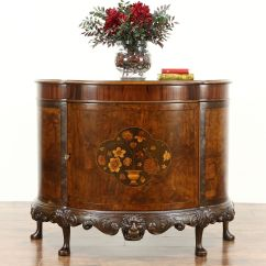 Kitchen Island And Carts Basic Cabinets Sold - Demilune Half Round Antique Sideboard Or Hall ...