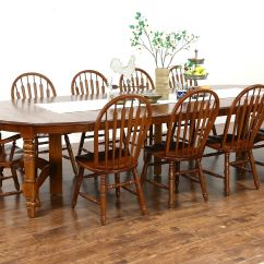 10 Chair Dining Table Set Best Office For Bad Back Australia Sold Oak Vintage 54 8 Leaves Chairs Richardson Bros Wi Harp Gallery