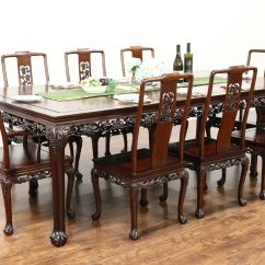 Dining Set With 8 Chairs Broyhill Big And Tall Office Chair Sold Chinese Rosewood Vintage Table