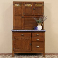 Wilson Kitchen Cabinet Hoosier Corner Sink Sold Oak 1910 Stained Glass