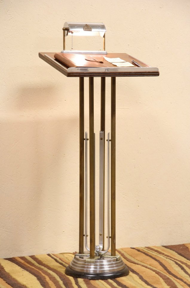 SOLD  Art Deco 1930s Lectern Podium or Reception Stand