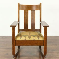 Craftsman Rocking Chair Styles Office Chairs Sold Arts And Crafts Mission Oak Rocker Antique