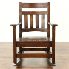 Craftsman Rocking Chair Styles Bedroom Size Sold Arts And Crafts Mission Oak