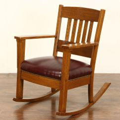 Craftsman Rocking Chair Styles Retro Dining Table And Chairs Ireland Sold Rocker Arts Crafts Mission Oak Antique 1905