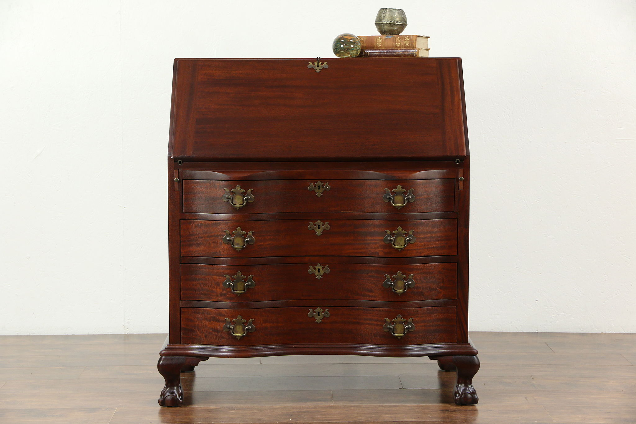 SOLD  Traditional Mahogany 1920s Antique Drop Front