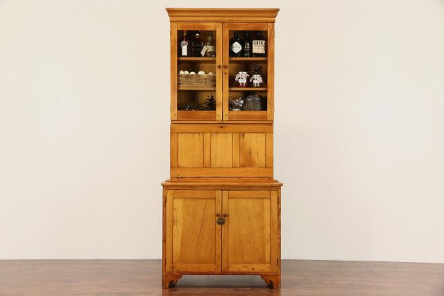SOLD Country Pine 1860 s Antique Secretary Desk & Bookcase
