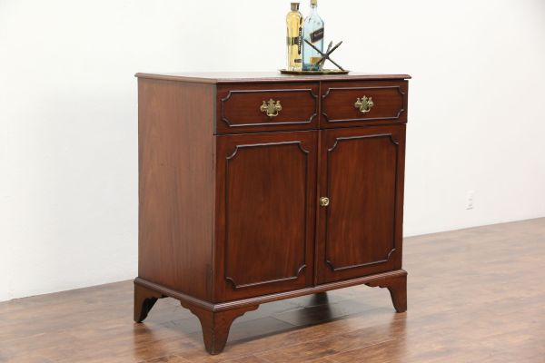 Mahogany Antique 1870 Sideboard Server Linen Cabinet