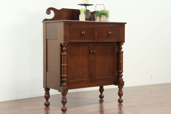 Sold - Empire 1825 Antique Cherry Sideboard Server