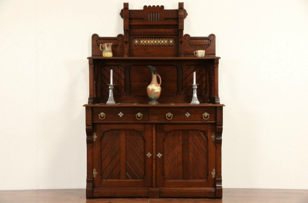 Sold - English Arts & Crafts 1890' Antique Sideboard