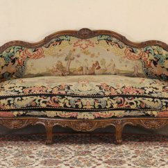 Kitchen Sink Styles Ceiling Fans Sold - Country French 1900 Antique Needlepoint Sofa Harp ...