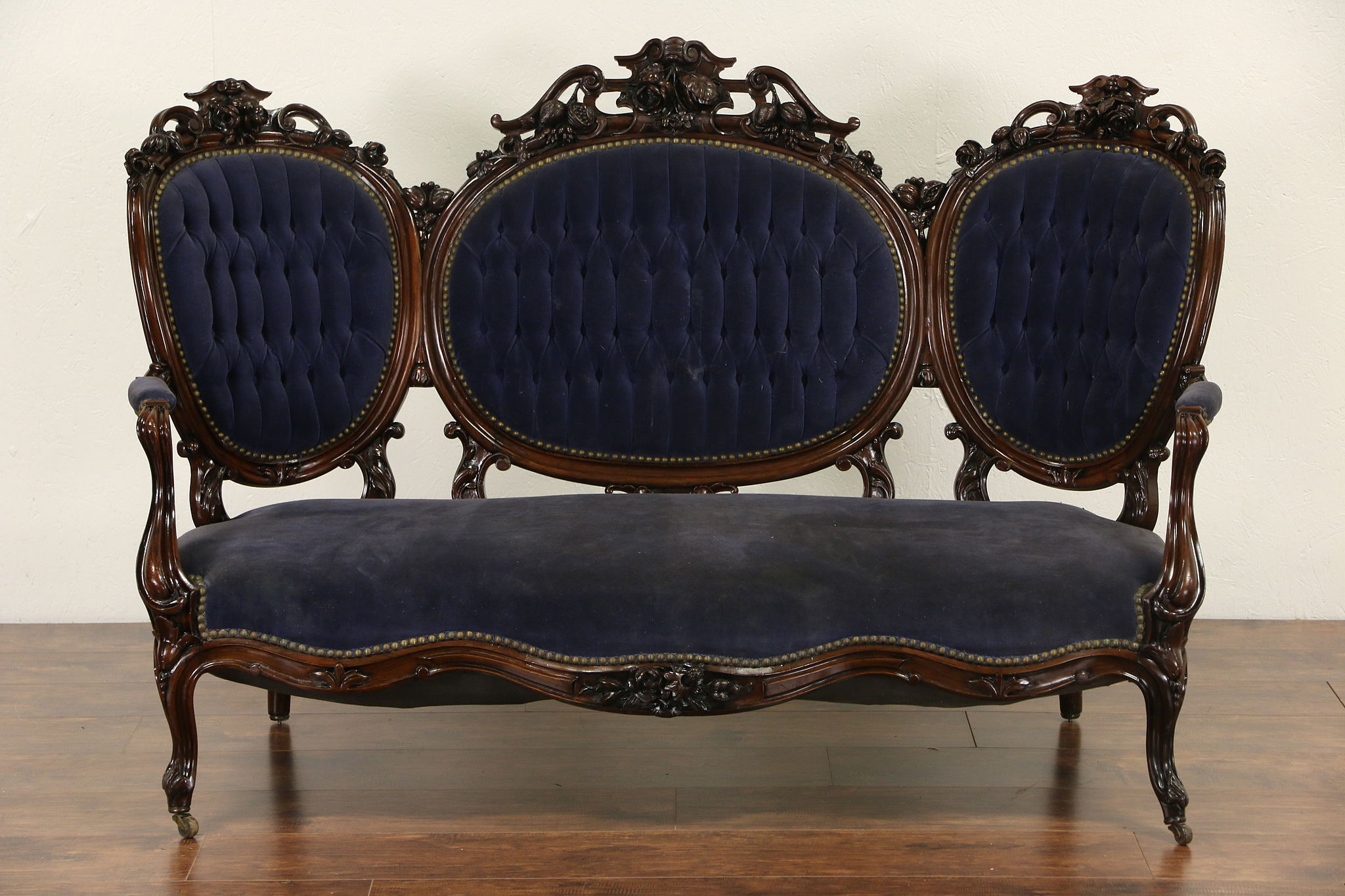 antique french sofa ebay curvy sold victorian hand carved rosewood 1860 39s