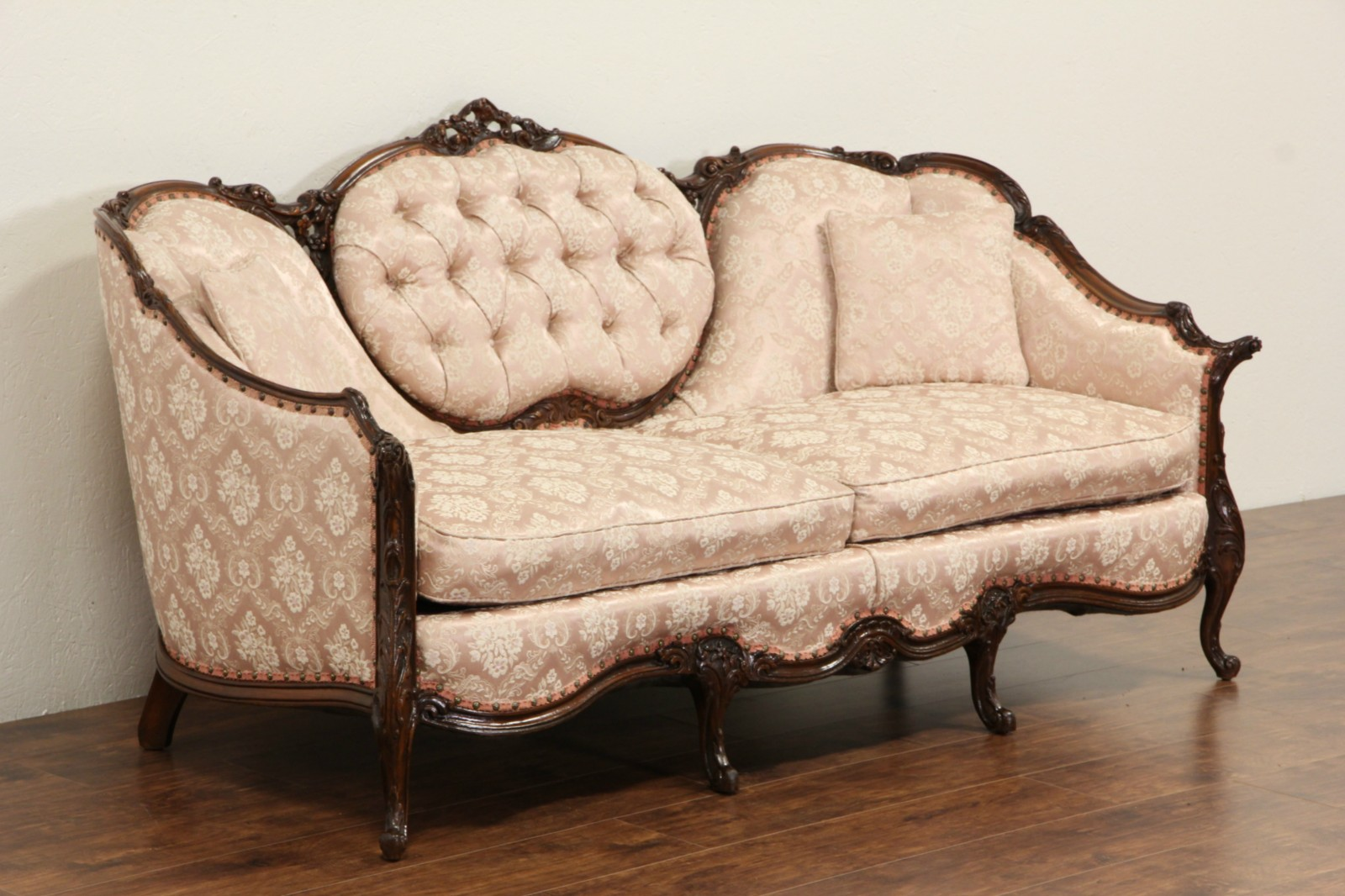a sofa in the forties big cushion covers sold french style carved frame 1940 39s vintage